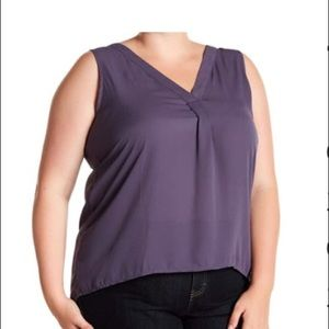 NWT 14th and Union gray sleeveless top in 1X